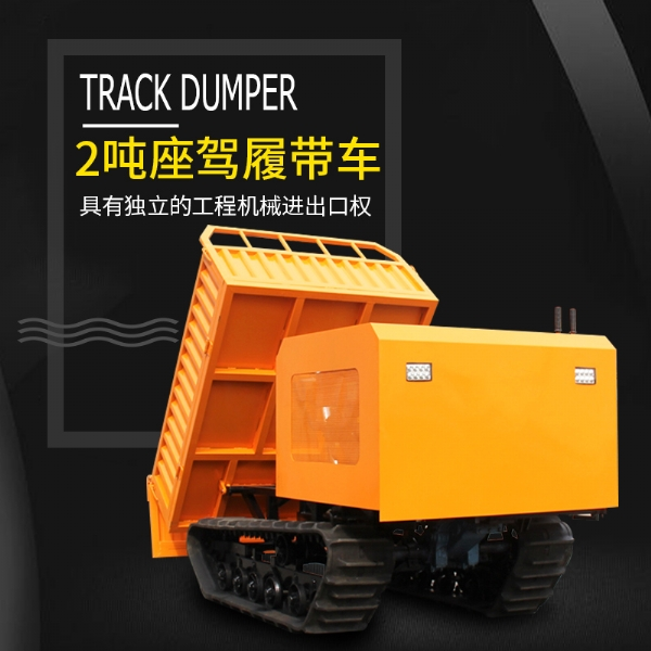 2T Car crawlercar Diesel engine( water cooling) Rubber Crawler
