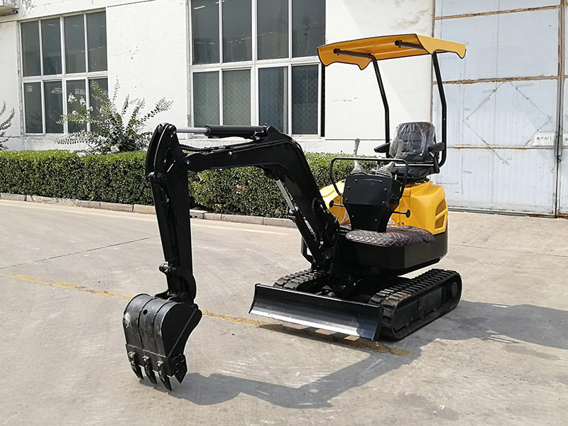 What should I do when the subminiature excavator rolls over?